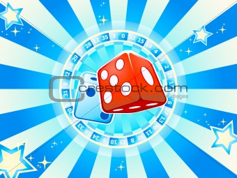 Dices casino background