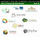 Set of 3D Design Elements