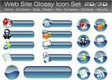 Web Site Glossy Buttons
