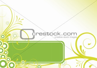 green abstract floral design