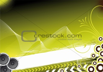 green abstract party background