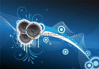 blue abstract party/music design