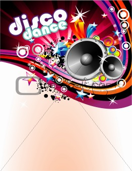 Disco Colorful Flyer Background
