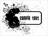 abstract black grunge vector with text place