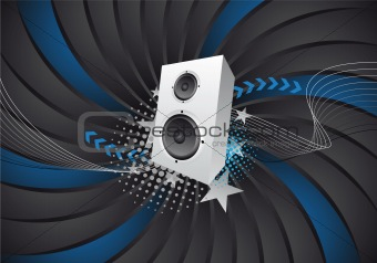 abstract music/party design