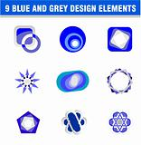 Set of 9 design elements