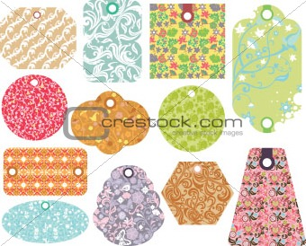 Abstract Floral Tag