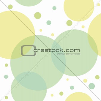 Abstract seamless pattern with green circles