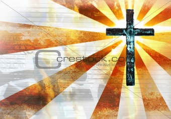 Grunge Metal Cross