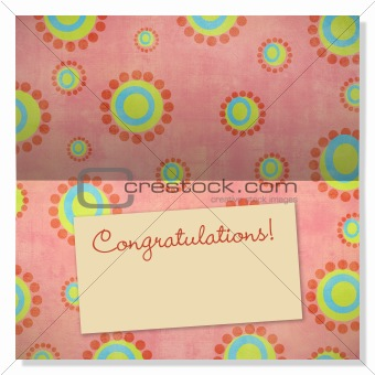 Celebration greeting card with copyspace on label