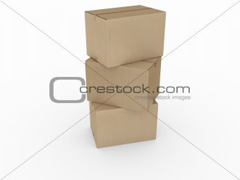 cardboard boxes stacked