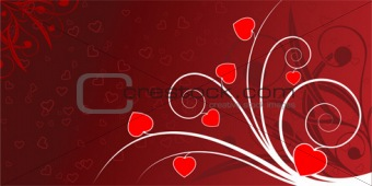 Abstract valentine card