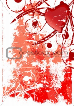Abstract grunge valentine card
