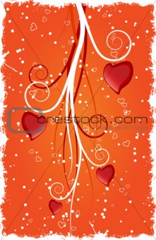 Heart with swirls. Vector illustration