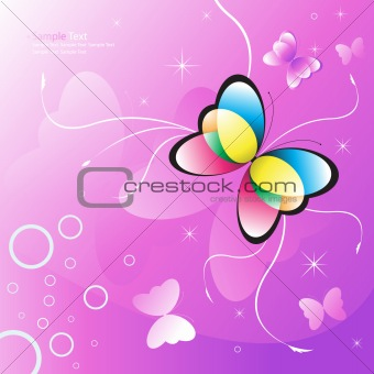 Abstract vector butterfly design