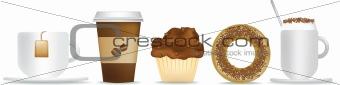 breakfast tea and coffee