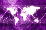 Purple Digital World Business Abstract