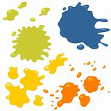Ink drops and splashes