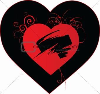Beautiful grunge heart