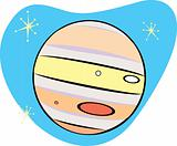 Retro Planet Jupiter