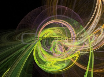 abstract yellow design