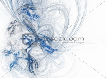 blue abstract line pattern