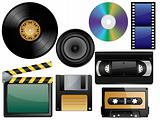 Vector glossy icon set.