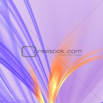 Abstract background. Blue - orange palette.