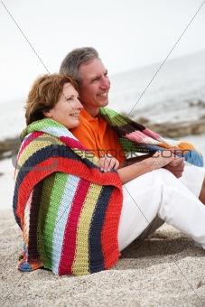 beautiful mature couple on holidays