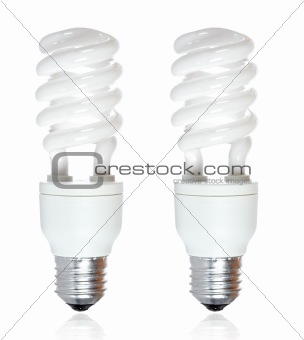 Two energy saving bulb