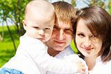 Attractive family