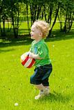 Running toddler