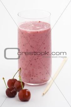 a delicious cherry milkshake