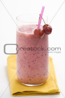 a delicious cherry milkshake