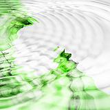 Abstract background. White - green palette.