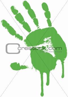 Green palm. Grunge.