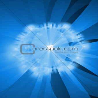 Abstract background. White - blue palette.