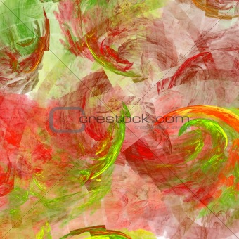 Abstract background. Red - green palette.