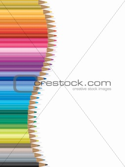 Bright colored pencils illustration