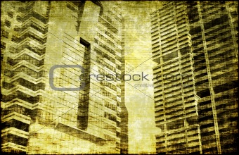 Grunge Building Background
