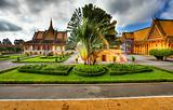 garden of royal palace - cambodia (hdr)