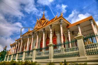throne hall - royal palace - cambodia (hdr)