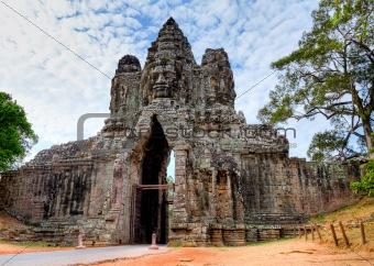 Gate of Angkor Wat - Cambodia (HDR)