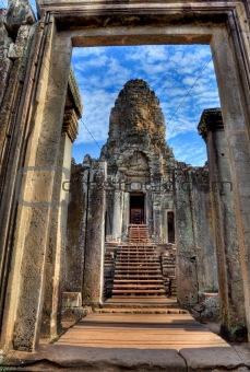 entrance of bayon temple - Cambodia (HDR)