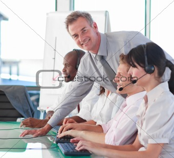 Business manager in a call centre