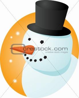 Smiling snowman