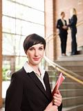 Businesswoman facing the camera