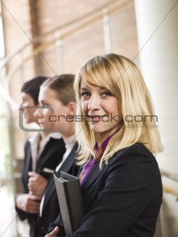 Three businesswoman in a row