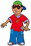 Cartoon rapper