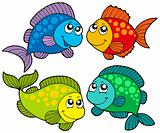 Cute cartoon fishes collection